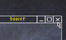 Chalk Drawig Of Browser Window...