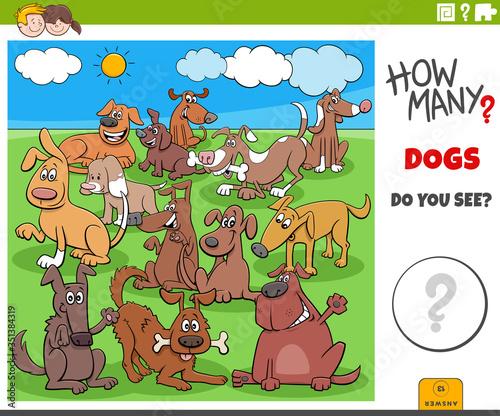 Obraz how many dogs educational task for children - fototapety do salonu
