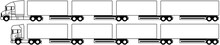 Road Train - Truck Towing A B ...