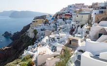 Greek Village On Volcanic Clif...