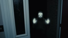 Cryptid At Door Spooky Creepypasta