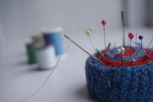 Close-up Of Pin Cushion With C...