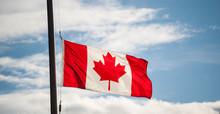 Canadian Flag Waving At Half-m...