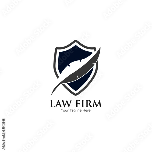 Photo Law Firm,Law Office, Lawyer services, Vector logo design template