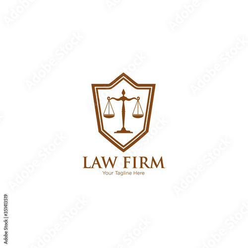 Photo Law office logo in the form of shield