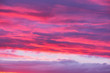 canvas print picture - Amazing cloudscape on the sky at sunset time.