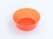 Close-up Of Orange Bowl On White Background