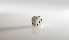 Close Up Of Dice Over White Background