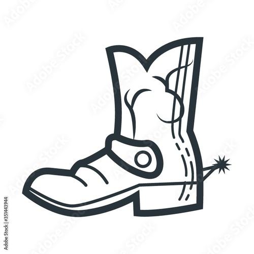 cowboy boot Canvas-taulu