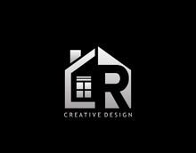R Letter Logo. Negative Space ...