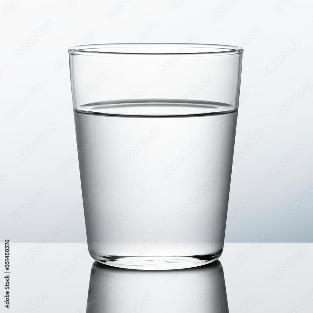 Fototapeta Glass of water macro shot