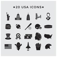 Usa Icons Set