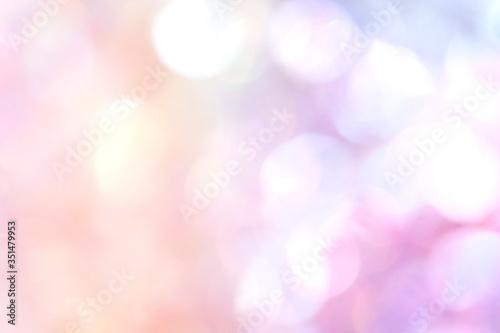 Fotografie, Obraz Pastel bokeh textured background illustration
