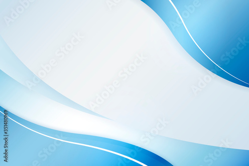 Obraz Ombre blue curve on a light blue background illustration - fototapety do salonu