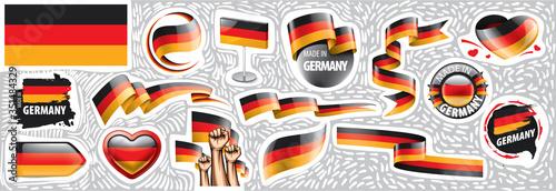 Fototapeta Vector set of the national flag of Germany obraz
