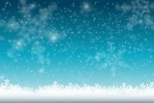 Winter Snowfall And Snowflakes...