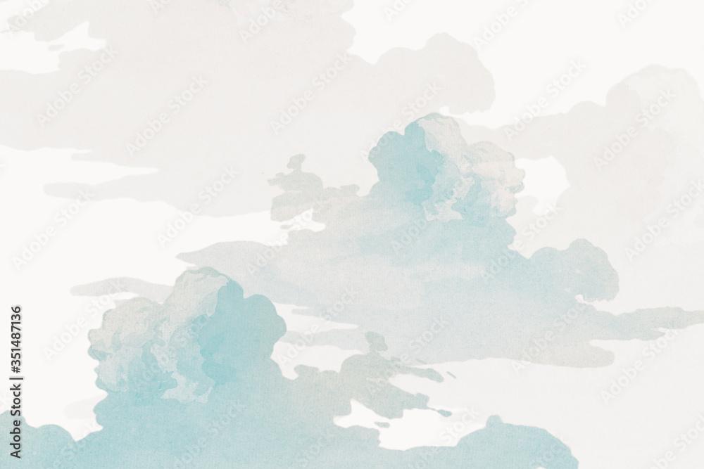 Fototapeta Gray cloudy sky background design resource