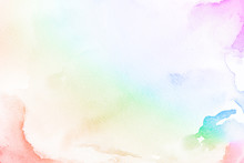 Rainbow Gradient Watercolor Style Background Illustration Illustration
