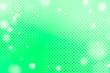 Leinwandbild Motiv White bokeh frame on a green background