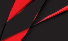 Abstract Red Triangle On Dark ...
