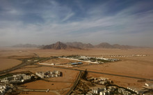 An Aerial View Of Human Settlements In The Mountainous Desert Of South Sinai, Egypt