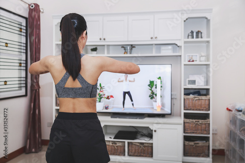 Obraz Home fitness exercise - fototapety do salonu