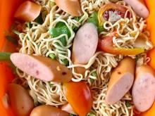 Instant Noodles Salad With Sau...