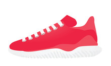 Red Canvas Sneaker. Vector Ill...