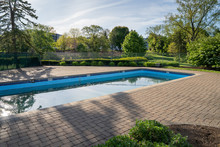 Swimming Pool With Concrete Pa...