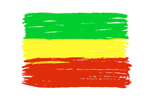 Rastafari Flag Isolated On A W...