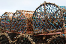 Crab Cages On A Beach