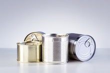Canned Food. Different Types O...