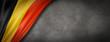 Belgian flag on concrete wall banner