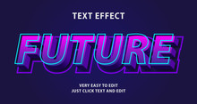 Future Text Effect, Editable T...