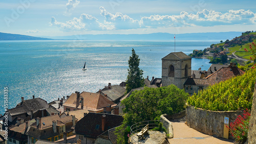 The absolute charming and wonderful village of Saint Saphorin, Switzerland, 20 May 2020 Canvas Print