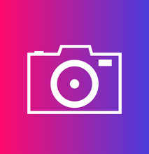 Camera Icon On The Color Background