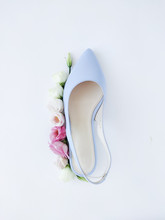 Trendy Blue High Heel Shoes Wi...