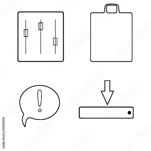 clipboard with pen - 351599359