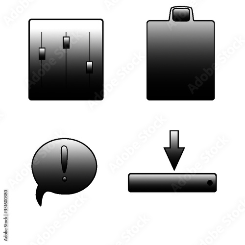 Obraz computer mouse icon set - fototapety do salonu