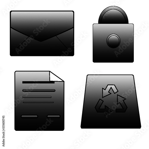 mail icons set - 351600745