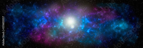 Photo Planets and galaxy banner, science fiction wallpaper