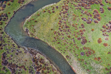 A 4k High Resolution Aerial View Of A Western Trout Stream In Wyoming.