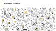 Business Startup Isometric Outline Illustration
