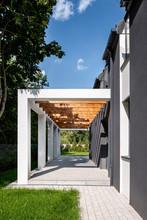Elegant Home Veranda With Wood...