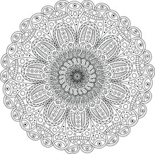 Detailed Coloring Page. Circled Vector Abstract Picture For Anti-stress Therapy.