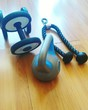 canvas print picture Exercise Equipment On Hardwood Floor At Gym