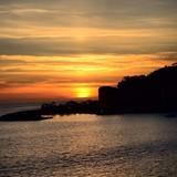 Fototapeta Na ścianę - Scenic View Of Sea At Sunset
