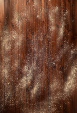 Floured Wooden Table, Top View