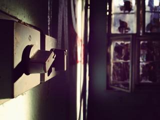 Close-up Of Locks At Home