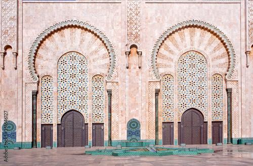Fotografia, Obraz Exterior of Hassan II Mosque in Casablanca, Morocco, Africa